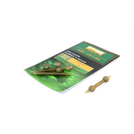 PB PRODUCTS HELI-CHOD RUBBER & BEADS WEED