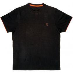FOX COTTON T-SHIRT BLACK /ORANGE SMALL