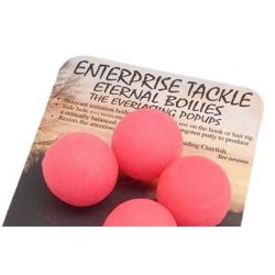 ENTERPRISE TACKLE BOILIES POP UP PINK FLURO