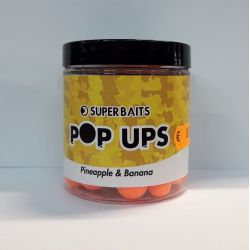 SUPERBAITS POP UPS PINEAPPLE & BANANA 12-15 MM - 80 GR