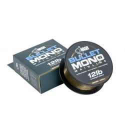 NASH BULLET MONO MAINLINE GREEN 15 LB - 0,37 MM - 1000 M