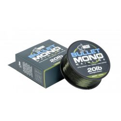NASH BULLET MONO MAINLINE GREEN 20 LB - 0,40 MM - 1000 M