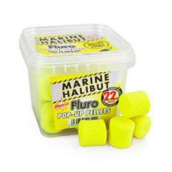 DYNAMITE MARINE HALIBUT FLURO POP UP PELLETS 22 MM