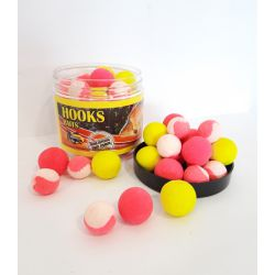 POISSON FENAG FLURO POP UPS TWO TONE 14-20 MMBANANA & STRAWBERRY