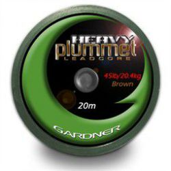 GARDNER HEAVY PLUMMET LEADCORE BROWN 20 M