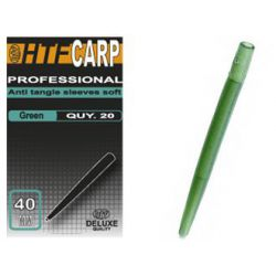HTF CARP ANTI TANGLE SLEEVES SOFT GREEN 40 MM - 20 UNIDADES
