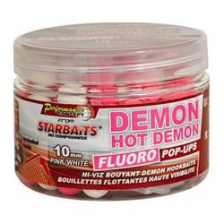 STARBAITS FLURO POP UPS HOT DEMON PINK / WHITE 14 MM