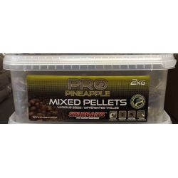 STARBAITS PRO PINEAPPLE MIXED PELLETS 2 KG