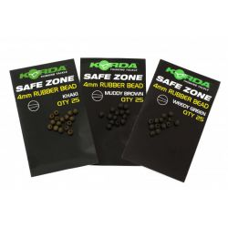 KORDA SAFE ZONE RUBBER BEAD BROWN 4 MM