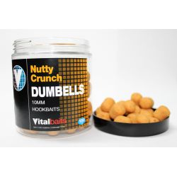 VITALBAITS HOOKBAITS NUTTY CRUNCH DUMBELLS 10 MM